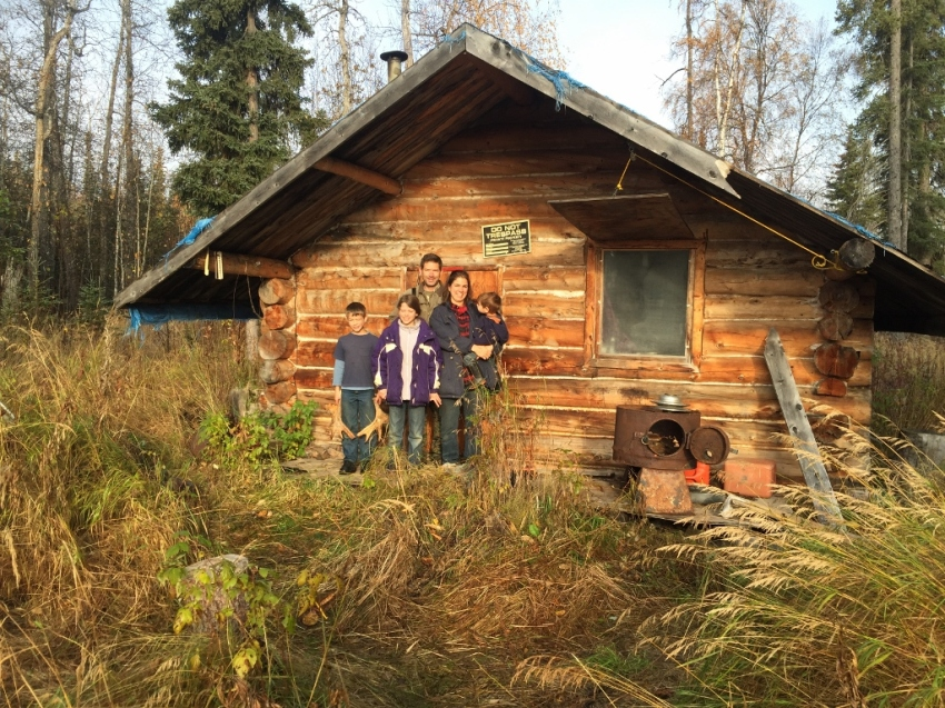 Millers at Marvin Deacon's cabin, off the Innoko River