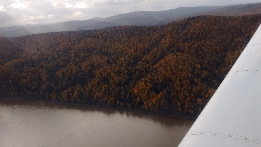 Almost to Grayling, over the Yukon River