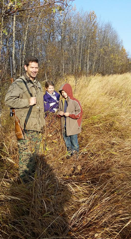Moose hunting crew; Jared and Christa did the calling with moose antlers and a coffee can